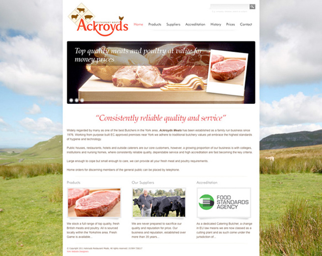 The finished ackroyds website re-design