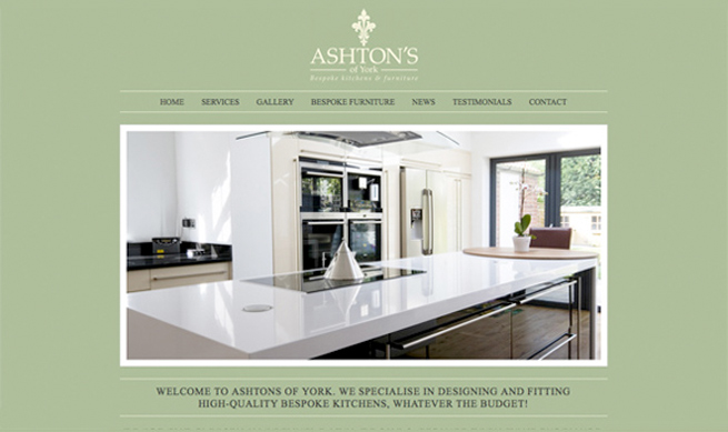Kitchen Web Design Prepossessing Website Design For Ashton's Of York  Affordable Web Design Design Inspiration
