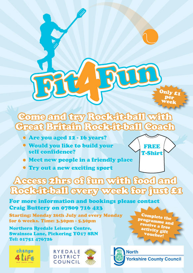 poster we designed for NHS and Ryedale councils fit for fun programme