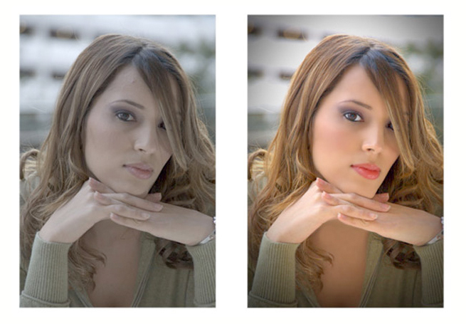 before and after photographic enhancement