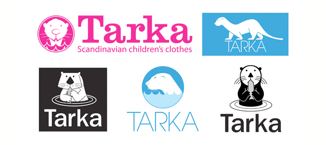a collection of our initial logo concepts for Tarka Clothing