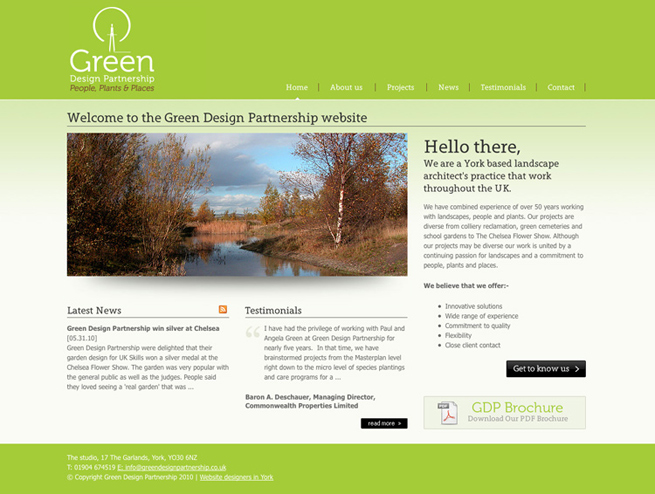 Green Design Partnership website is now live