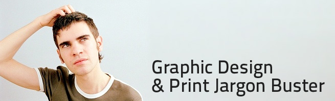 man looking confused about graphic design terminology