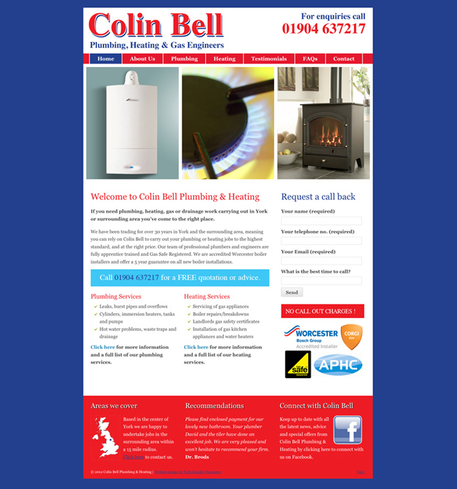 York Web Designers : Website redesign for Colin Bell ...