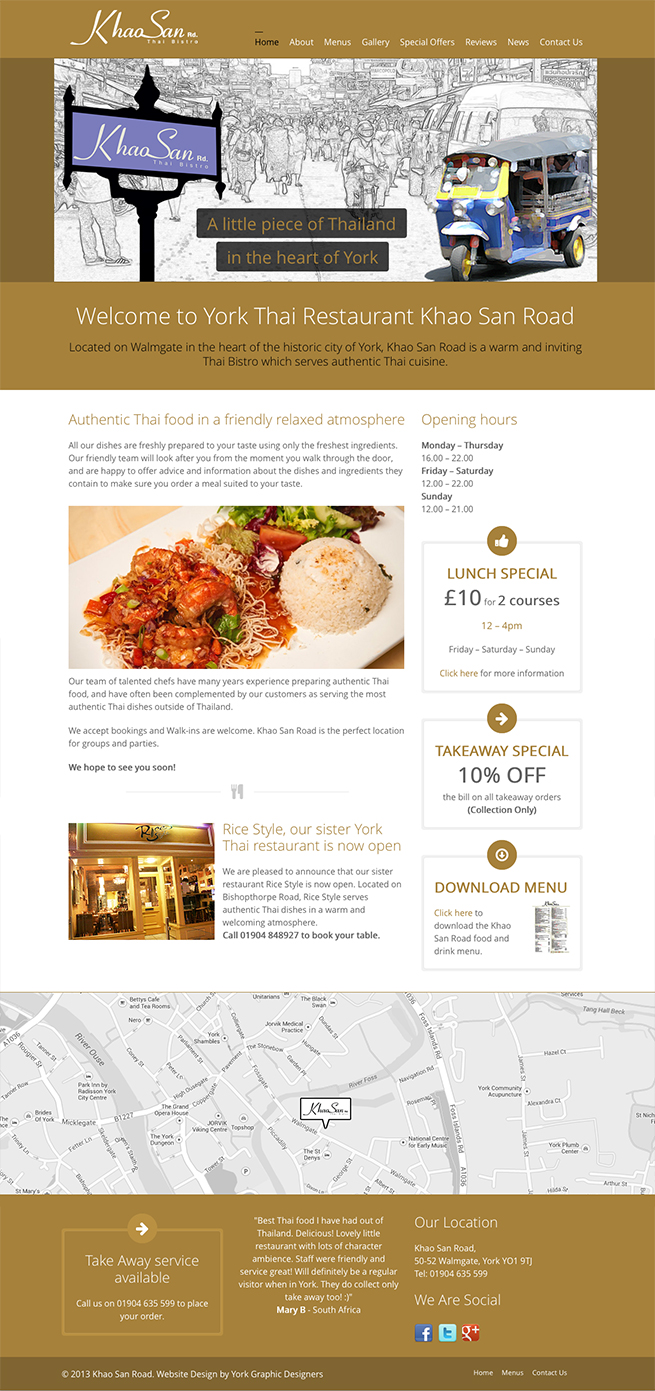 Khao San Road Website Design