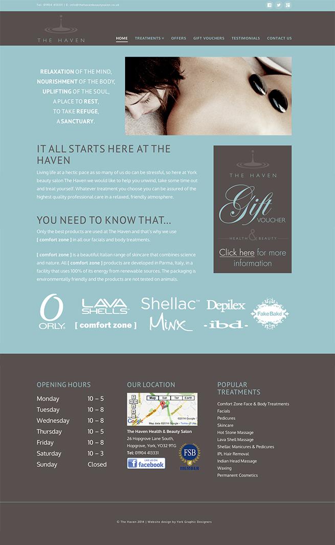 website design for the haven york